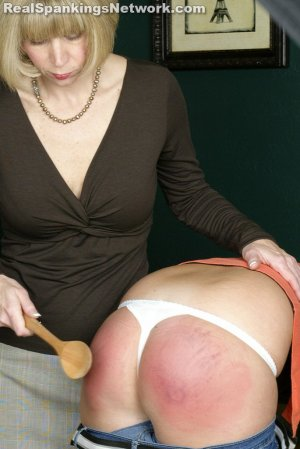 Real Spankings - Riley: Spanked With The Wooden Spoon - image 7