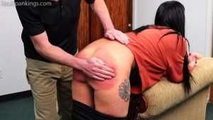 Real Spankings - Lilith's Bare Bottom Hand Spanking - image 2