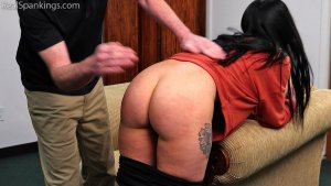 Real Spankings - Lilith's Bare Bottom Hand Spanking - image 4