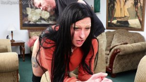 Real Spankings - Lilith's Bare Bottom Hand Spanking - image 8