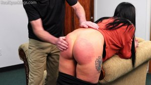Real Spankings - Lilith's Bare Bottom Hand Spanking - image 1