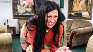 Real Spankings - Lilith's Bare Bottom Hand Spanking - image 5