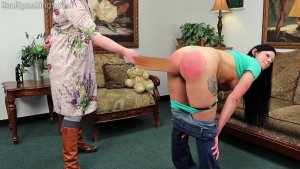 Real Spankings - Lilith's Bare Breasted Strapping - image 3