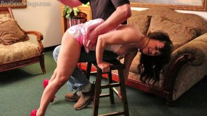 Real Spankings - Kiki Spanked Otk For Staying Up Late - image 3