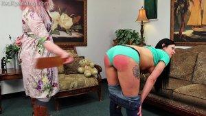 Real Spankings - Lilith's Bare Breasted Strapping - image 2