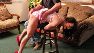 Real Spankings - Kiki Spanked Otk For Staying Up Late - image 2