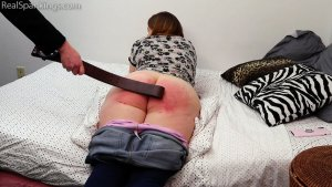 Real Spankings - Alex Spanked With The Belt (part 2 Of 2) - image 1