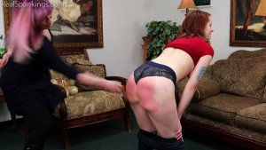 Real Spankings - Bare Breasted Punishment: Evyn - image 2