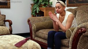 Real Spankings - Arella: Punished In The Living Room - image 8