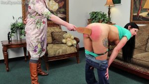 Real Spankings - Lilith's Bare Breasted Strapping - image 9