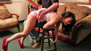 Real Spankings - Kiki Spanked Otk For Staying Up Late - image 4