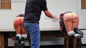 Real Spankings Institute - Kiki And Anastasia: Caught Without Panties (part 2) - image 1