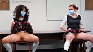 Real Spankings Institute - Kiki And Anastasia: Caught Without Panties (part 1) - image 3