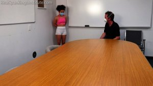 Real Spankings Institute - Punished For Not Wearing Her Mask During Pe (part 1) - image 4