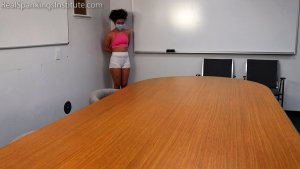 Real Spankings Institute - Punished For Not Wearing Her Mask During Pe (part 1) - image 2