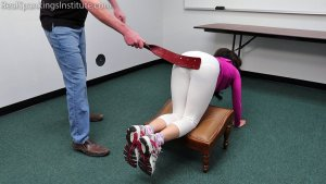 Real Spankings Institute - Kiki's Gym Punishment (part 1 Of 2) - image 1