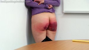 Real Spankings Institute - Punished For Not Wearing Her Mask At School (part 2) - image 2