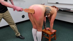 Real Spankings Institute - Cara's Academic Review With The Dean (part 2) - image 5