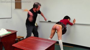 Real Spankings Institute - Asher And Kiki Spanked In The Classroom (part 4 Of 4) - image 9