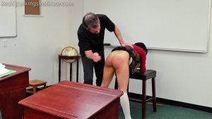 Real Spankings Institute - Asher And Kiki Spanked In The Classroom (part 3 Of 4) - image 5