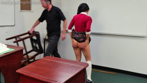 Real Spankings Institute - Asher And Kiki Spanked In The Classroom (part 3 Of 4) - image 10