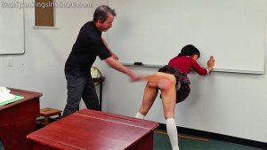 Real Spankings Institute - Asher And Kiki Spanked In The Classroom (part 4 Of 4) - image 8