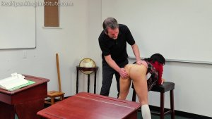 Real Spankings Institute - Asher And Kiki Spanked In The Classroom (part 3 Of 4) - image 2