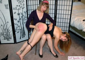 Girl Spanks Girl - Missy Spanked For Naughty Picutres - image 8