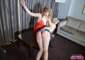 Spanked Call Girls - Madam Clare Spanks Lola - image 7