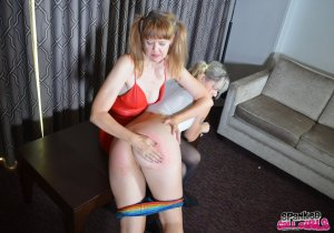 Spanked Call Girls - Madam Clare Spanks Lola - image 8