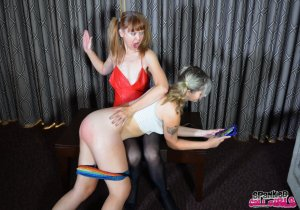 Spanked Call Girls - Madam Clare Spanks Lola - image 2