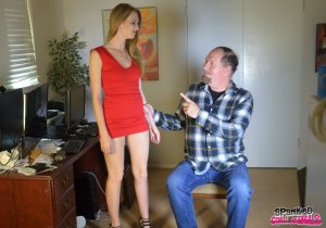 Spanked Call Girls - Ashley Lane Spanked For Missing Cut - image 3
