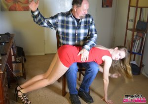 Spanked Call Girls - Ashley Lane Spanked For Missing Cut - image 7