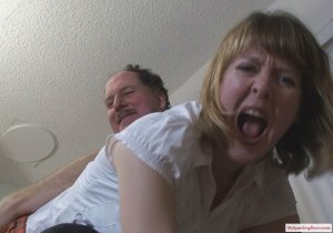 My Spanking Roommate - Clare Spanked By Neighbor - image 5