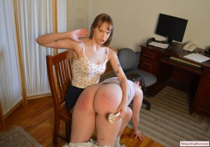My Spanking Roommate - Angry Rebecca Spanks Kay - image 3