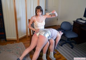 My Spanking Roommate - Angry Rebecca Spanks Kay - image 1
