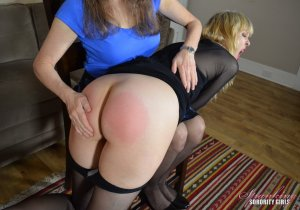 Spanking Sorority Girls - Clare Spanked By Miss Bernadette - image 2
