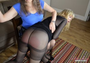 Spanking Sorority Girls - Clare Spanked By Miss Bernadette - image 3