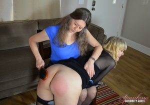 Spanking Sorority Girls - Clare Spanked By Miss Bernadette - image 6