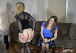 Spanking Sorority Girls - Clare Spanked By Miss Bernadette - image 5