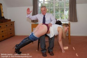 Firm Hand Spanking - Leather Princess - B - image 3