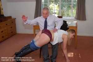 Firm Hand Spanking - Leather Princess - B - image 2