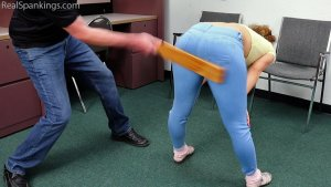 Real Spankings - A School Paddling Ordered By Her Parents - image 5