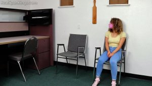 Real Spankings - A School Paddling Ordered By Her Parents - image 4
