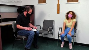 Real Spankings - A School Paddling Ordered By Her Parents - image 7