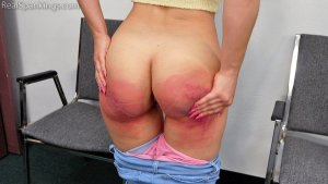 Real Spankings - A School Paddling Ordered By Her Parents - image 3