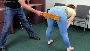 Real Spankings - A School Paddling Ordered By Her Parents - image 6