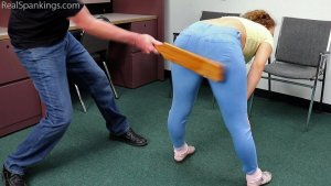 Real Spankings - A School Paddling Ordered By Her Parents - image 2