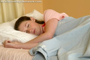 Real Spankings - Bailey Spanked For Sleeping Late - image 1