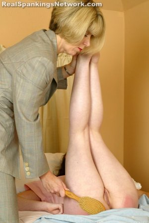 Real Spankings - Bailey Spanked For Sleeping Late - image 6